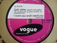 78 Tours JOSH WHITE-I WANT YOU AND I NEED YOU/No: 12 TRAIN