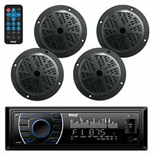 "Bluetooth Marine MP3/USB/SD AM/FM Receiver Stereo & 6.5"" Speaker Kit"