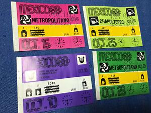 Mexico 1968 Olympic Games original tickets e