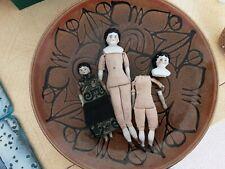 Two German Porceline Dolls and one other porceline doll.