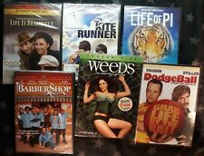 6 new Sealed Dvds Weeds 5 Life of Pi Kite Runner Life is Beautiful Barbershop