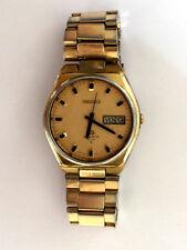 Vintage Men's Watch Seiko Quartz 4004 Day Date 0903 8139 Parts Repair Only