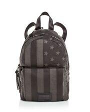 JOHN VARVATOS STAR USA Gibson Flag Backpack Book Bag Canvas Charcoal Grey NWT