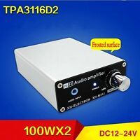 DC 12V -24V TPA3116D2 100W+100w HIFI Digital Subwoofer Power Amplifier Board
