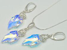 Schmuckset Sterling Silber 925 m. Swarovski Elements Halskette Ohrringe Anhänger