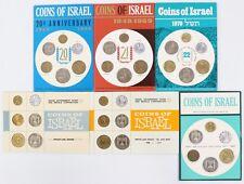 1965-1966-1967-1968-1969-1970 Proof-Like & Jerusalem Specimen 6-Coin Sets