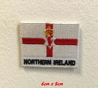 Northern Ireland Flag Iron on Sew on Embroidered Patch