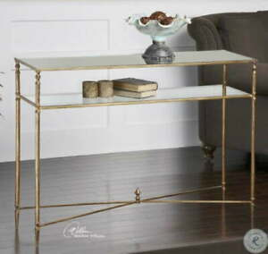 Henzler mirrored glass console table by Uttermost 24278