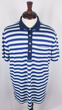 "RLX Ralph Lauren Mens Performance Wicking Golf Polo Shirt Striped ""Lakewood Cup"""