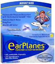 EarPlanes Ear Plugs 1 Pair- GENUINE AUTHENTIC EARPLANES BRAND-SAME DAY SHIPPING