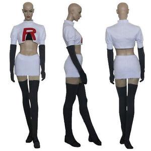 Pokemou Team Rocket Jessie Cosplay Costume Custom