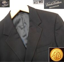 BROOKS BROTHERS BROOKSEASE NAVY 1-VENT BLAZER 100% WOOL MADE IN USA 43 RG - MINT