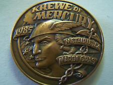1992 ON THE WINGS OF MERCURY Antique Bronze High Relief Mardi Gras Doubloon