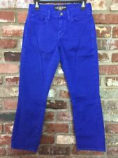 LUCKY BRAND Sofia Capri Jeans Women's Size 2 / 26 Royal Blue Cotton Twill