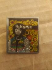 "Jimi Hendrix 1"" by 1¼"" Rectangular Pin 1980s"
