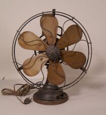 Antique General Electric 6 Blade Electric Fan Brass Blades & Cage WORKING ORDER