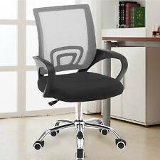 Adjustable Height Mesh Office Chair Ergonomic 360°Swivel Lift Computer Desk Grey