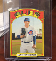 "2021 Topps Heritage ANTHONY RIZZO ""DIE-CUT MINI '72"" SP black border Cubs"