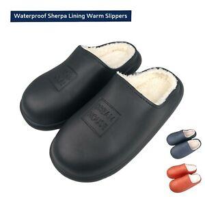 Waterproof Slippers Mens Ladies Warm Slippers indoor Outdoor Men Winter Slippers