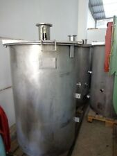 Stainless steel tank + variable speed gearmotor 0.75Kw 15-76 Rpm Edelstahltank