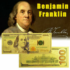 100 Latest Gold US Note $100 One Hundred Dollars 24K Gold Banknote Collector Bil