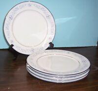 "5 NORITAKE LEGENDARY DEARBORN DINNER PLATES 10.5""  FREE U S SHIPPING"
