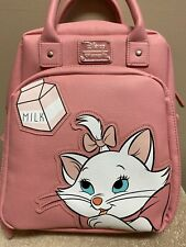 Retired Disney Loungefly Aristocrats Marie Backpack- pink faux leather