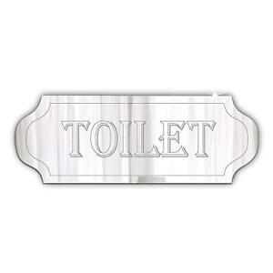 Toilet door Sign / Plaque , Mirrored Acrylic, Door Sign