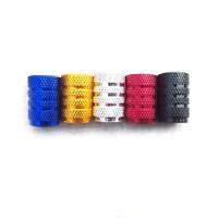 1 or 4x Metal Tyre Valve Dust Caps Covers /Car Bicycle Motorcycle blue red gold