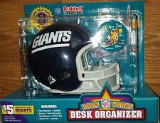 NY NEW YORK GIANTS NFL MINI HELMET DESK ORGANIZER NEW! SEALED!! FREE SHIPPING!!!