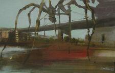 Pintura * Acrílico *  Araña merodeando el Guggenheim * original painting