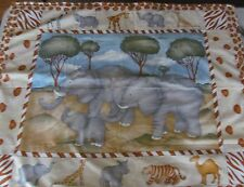 Elephants Tigers & Giraffes O' My Cotton & Flannel Baby/Toddler/Youngster Quilt