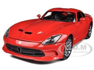 Box Dented 2013 DODGE VIPER GTS RED 1/18 DIECAST MODEL CAR BY MAISTO 31128