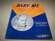 Baby Me Sheet Music by Lou Handman Harry Harris Archie Gottler 1939 Sammy Kaye