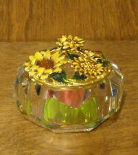 Jeweled Jar Trinket Box #J1072 SUNFLOWER w/ BEE, From Retail Store Welforth NIB