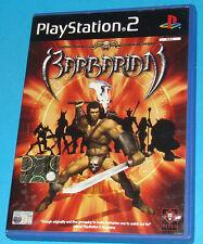 Barbarian - Sony Playstation 2 PS2 - PAL