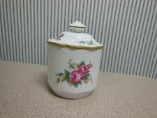 SPODE BONE CHINA BILLINGSLEY ROSE SPRAY JAM JELLY JAR & LID PERFECT ENGLAND