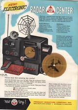 1956 PAPER AD 4 PG Toy Tru Product Miniature Radarscope Radar Center Corvette