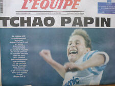 L'Equipe 17 novembre 1998 Tchao Papin JPP OM Marseille Milan Europe Ballon d'Or