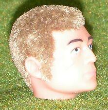 Vintage Action Man 40th reemplazo cabeza flocado Fuzzy patillas Cabello Rubio