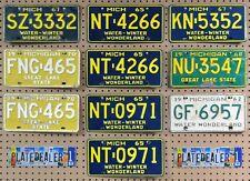 10 MICHIGAN Colored License Plates Tags Crafts Art Man Cave Decor 3 PAIR LOT 332