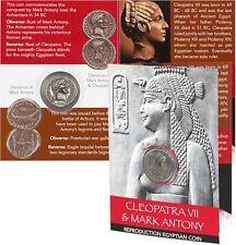 Cleopatra y Mark Antony moneda Pack-Bustos Denario