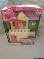 Barbie Kelly FOLD UP - POP UP PLAY HOUSE !! Kitchen table, cake, swing, slide ++