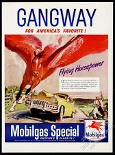 1949 Pegasus red flying horse art Mobil Gas vintage print ad