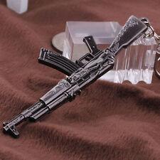 2017 Hot Gun Pendant Key Ring Chain Cross Fire 65mm AK47 Weapon Model Metal