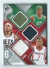 2009-10 SP Game Used Rondo Boone Kyle Lowry Brown Farmer + 6 GU JERSEY 68/99