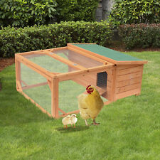 Pawhut Deluxe Backyard Wood Chicken Coop Hutch Poultry Rabbit Hen Cage with Run