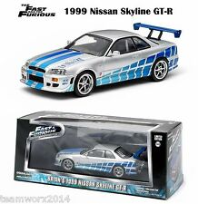 2 FAST 2 FURIOUS (2003) 1999 NISSAN SKYLINE GT-R GREENLIGHT DIECAST 1:43 86208