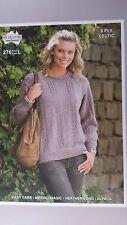 Heirloom Knitting Pattern #276 to Knit Ladies Round Neck Jumper in 8 Ply