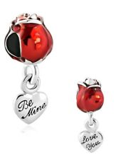 I love you Charm Fits European Charm Bracelet rose charm Mothers day CH56